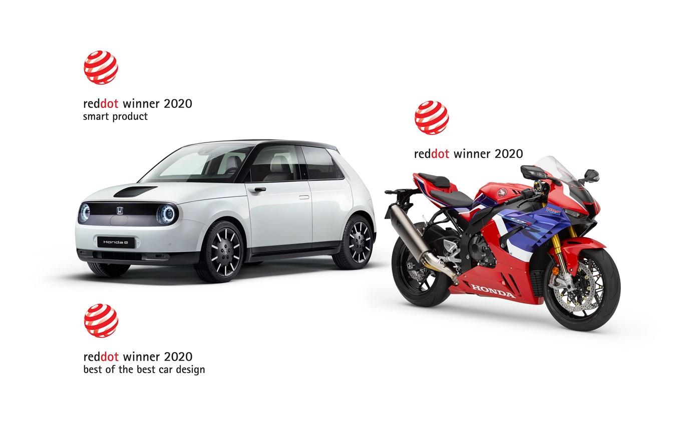 """Honda si aggiudica tre premi nei Red Dot Design Awards,  tra cui il """"Best of the Best"""" per la Honda e"""