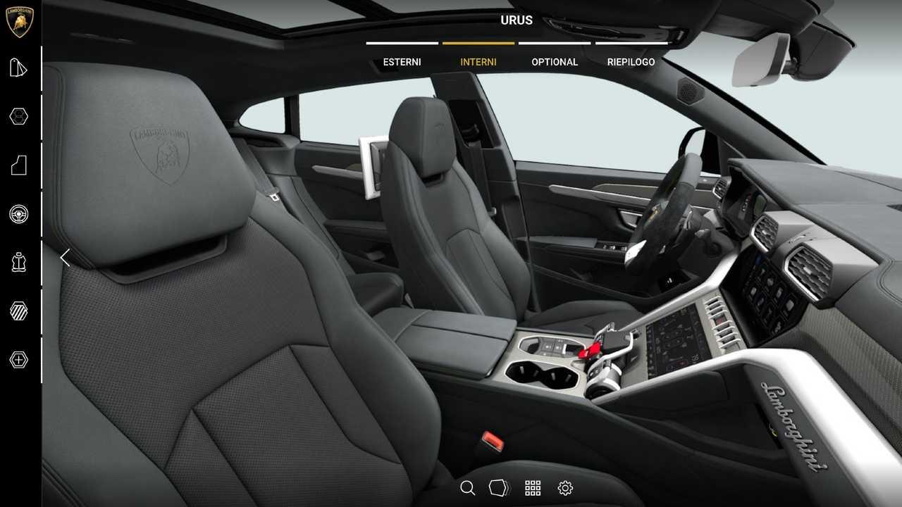 Lamborghini Urus, Come Configurarla
