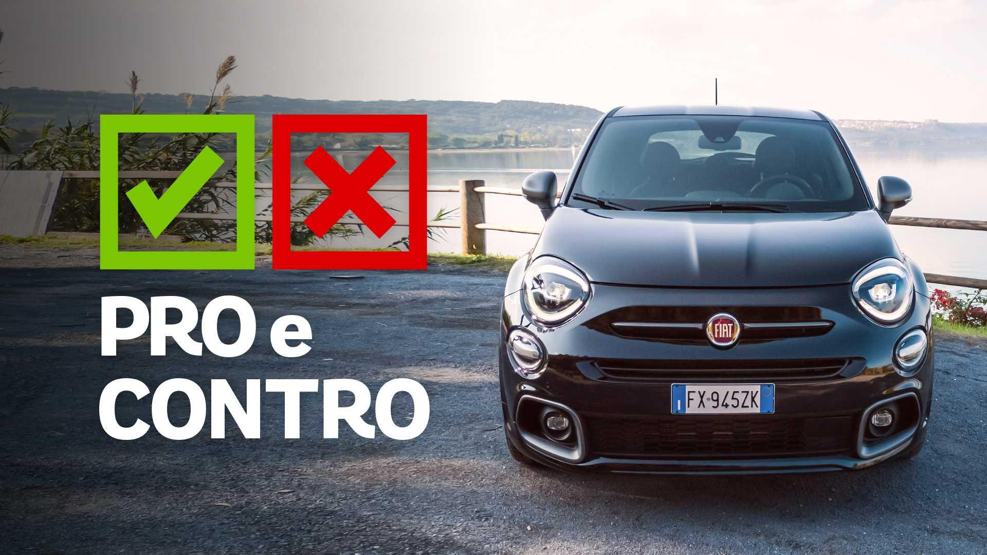 Fiat 500X Sport, pro e contro