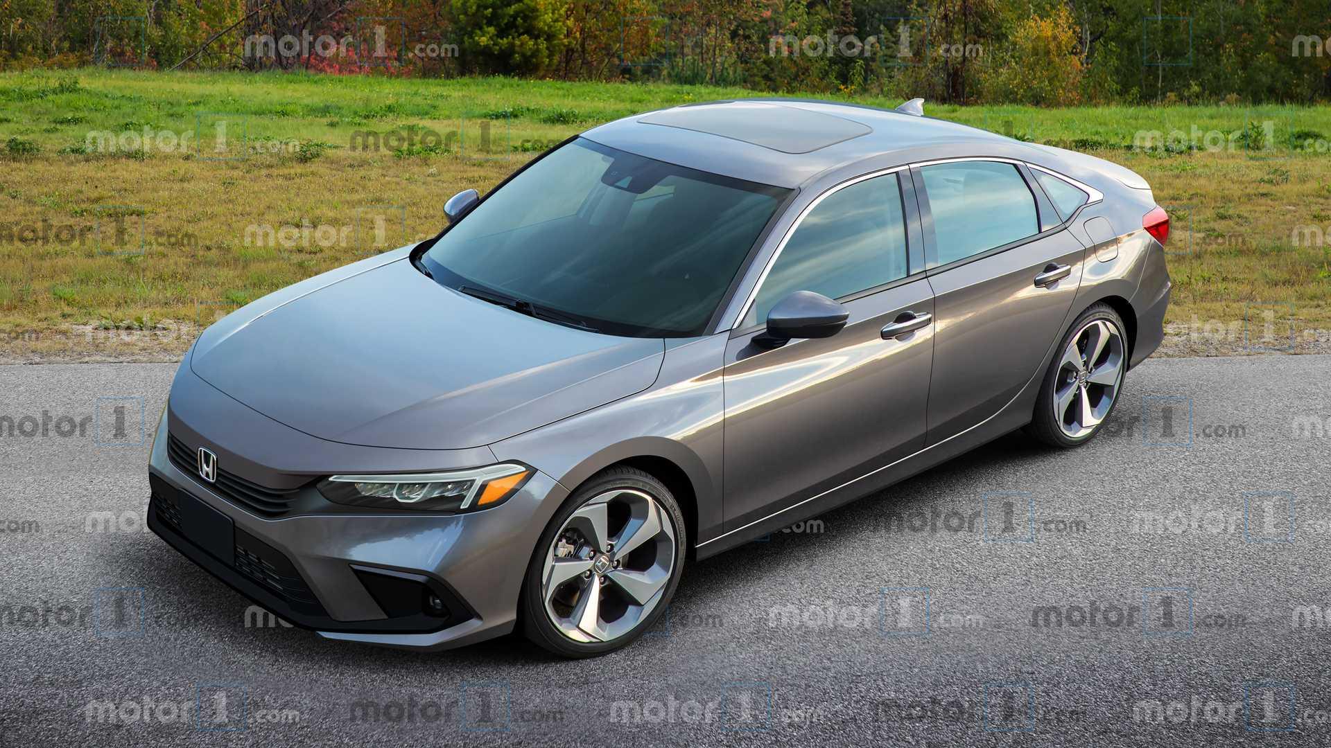 2022 Honda Civic Sedan Rendering