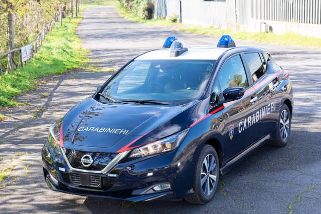 La Nissan Leaf è la nuova auto dei Carabinieri
