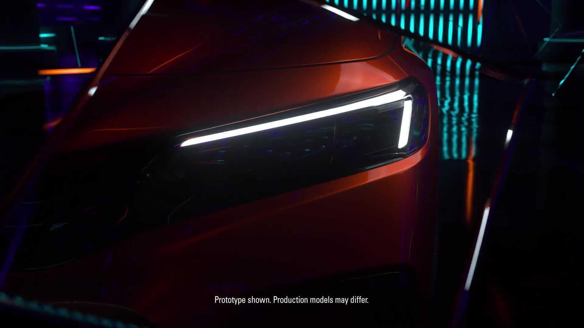 Honda Civic 2022 - Teaser
