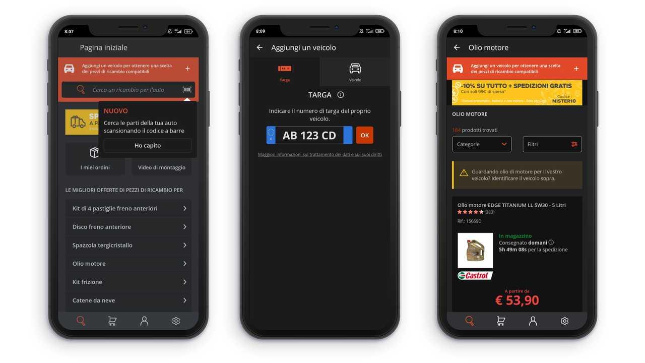 Immagine 2 app ricambi auto