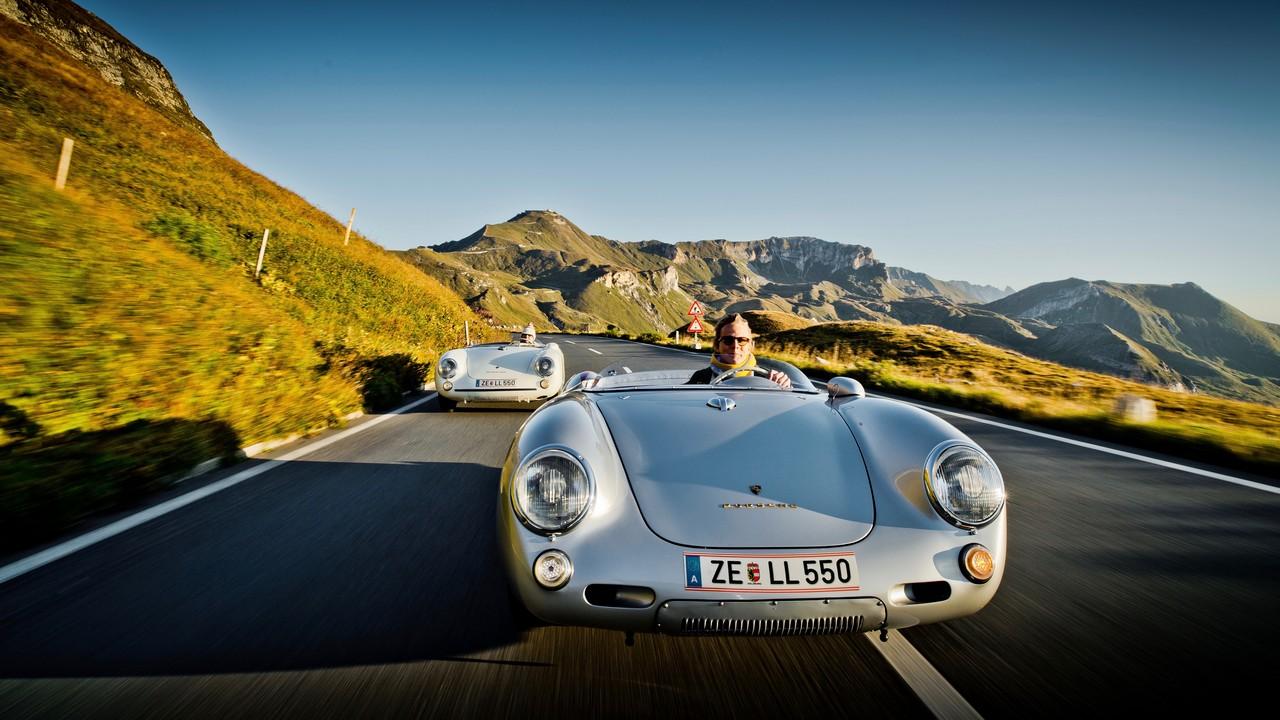 Due Porsche 550 Spyder con al volante… Wolfgang e Ferdi Porsche