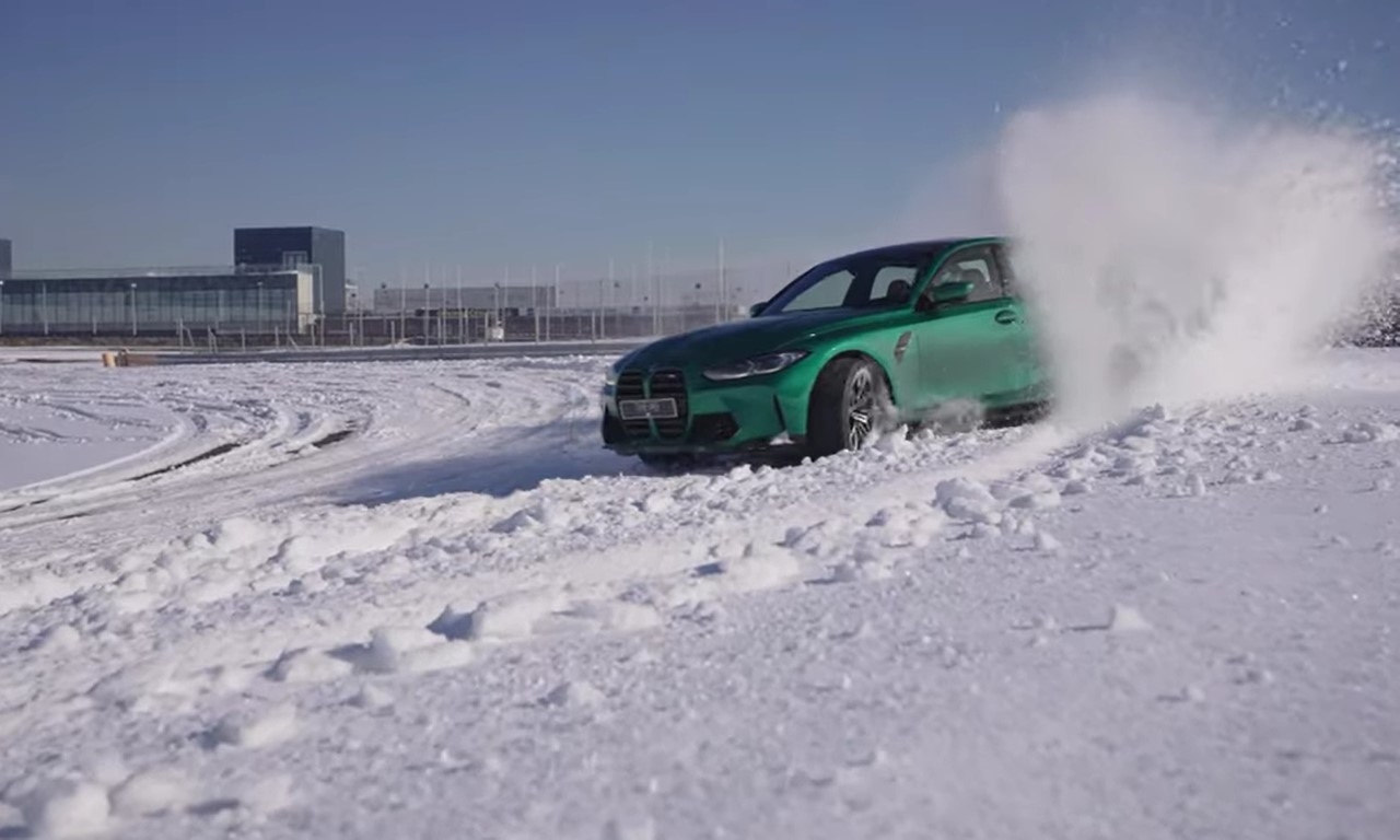 BMW M3 2021: drifting sulla neve a Jarama [Video]