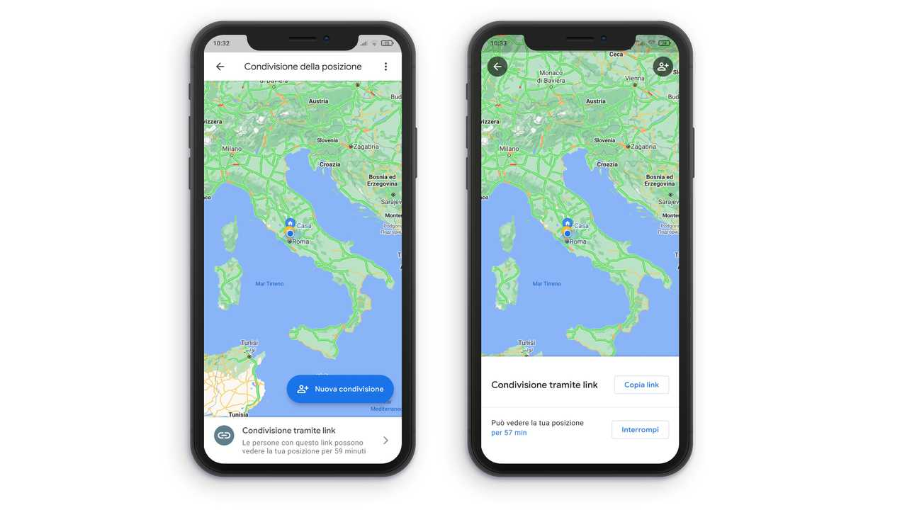 Immagine 2 condivisione posizione Google Maps
