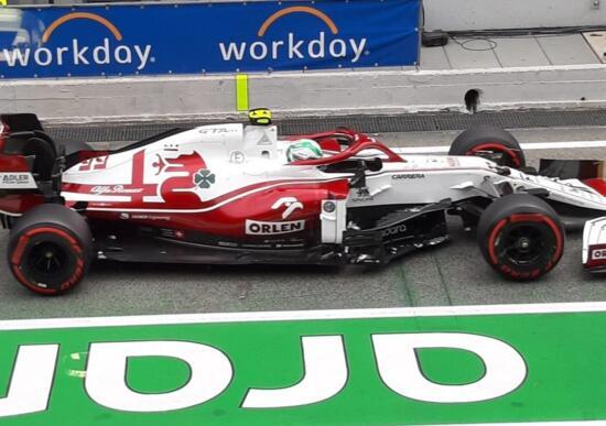 F1, GP Spagna 2021: l'Alfa Romeo rovina un'altra gara a Giovinazzi