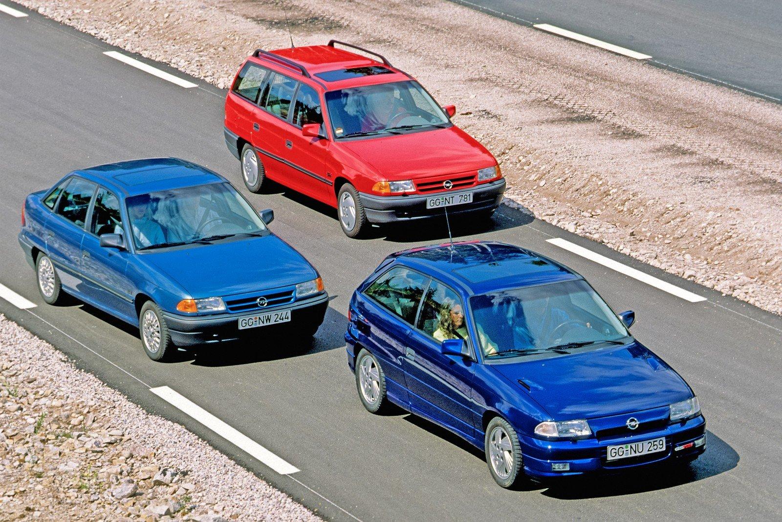 Opel Astra F: 30 anni di storia nelle immagini