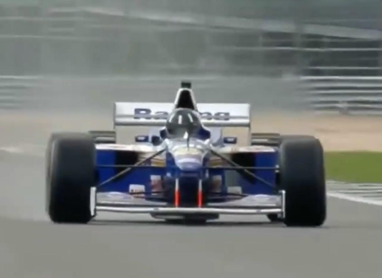 F1: Damon Hill torna in pista a Silverstone sulla Williams FW18
