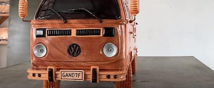 Volkswagen Type 2: ecco la replica in legno